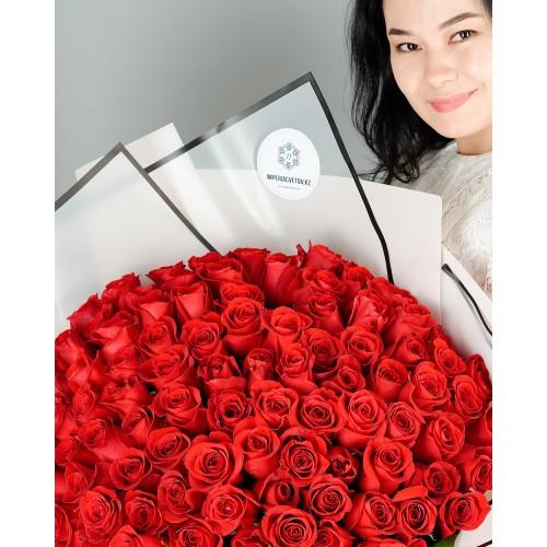 Купить на заказ Заказать Букет из 101 красной розы с доставкой по Караганде с доставкой в Караганде