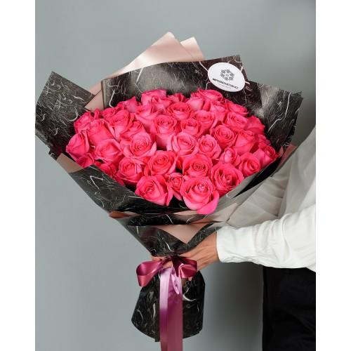 Купить на заказ Заказать Букет из 51 розовых роз с доставкой по Караганде с доставкой в Караганде