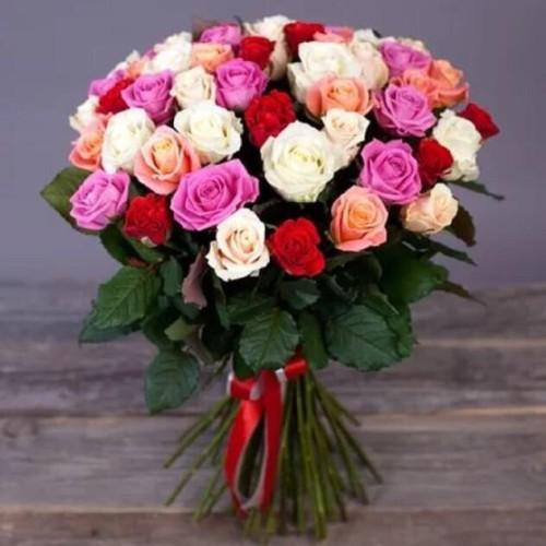 Купить на заказ Заказать Букет из 31 розы (микс) с доставкой по Караганде с доставкой в Караганде